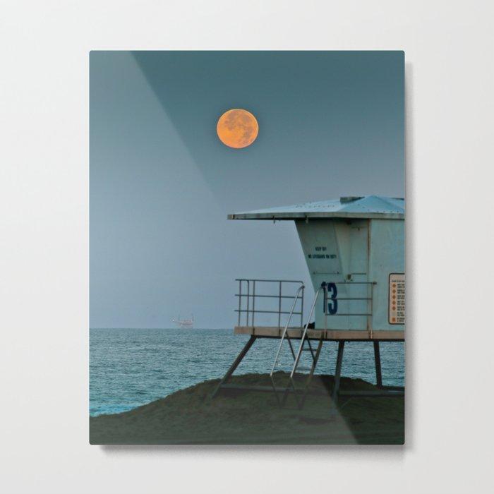 Huntington Beach Super Moon   7/12/14 Metal Print
