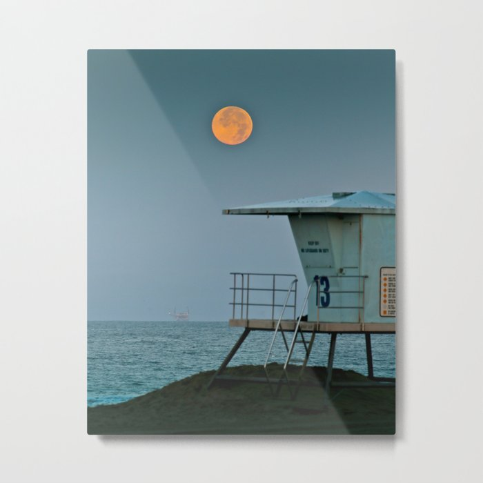 Huntington Beach Super Moon   7/12/14 Metal Print