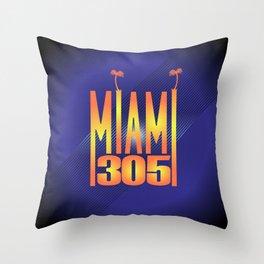 Miami   305 Throw Pillow