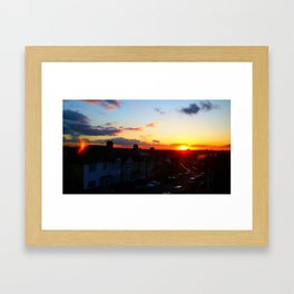Sunset Over London Framed Art Print