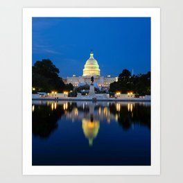 US Capitol Reflection 2 Art Print