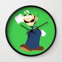 luigi Wall Clocks featuring Luigi by Valiant