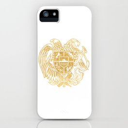 ARMENIAN COAT OF ARMS - Gold iPhone Case