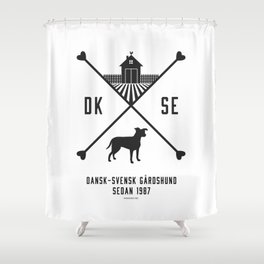 Since 1987 - black Shower Curtain