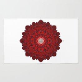 Ornamental round flower decorative element Rug