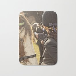 Horse and rider at Agriculture show Australia. Bath Mat