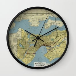 Port Of Seattle 1918 Wall Clock