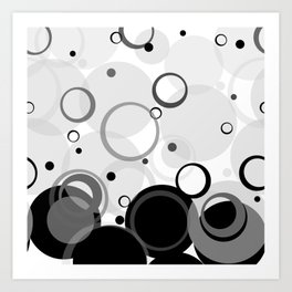 Circle Dance, Bubbles, Champagne Art Print