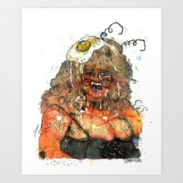 Edith Massey the Egg Lady Art Print
