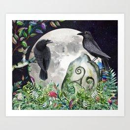 Raven Moon Magick Art Print