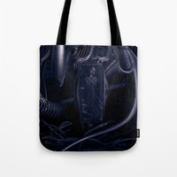 alien Tote Bags featuring Alien by MatoSwamp