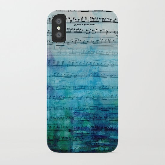 Blue mood music iPhone Case