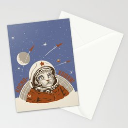 Soviet Space Cat Stationery Cards