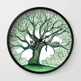 Cheri Whimsical Cats in Tree Wall Clock