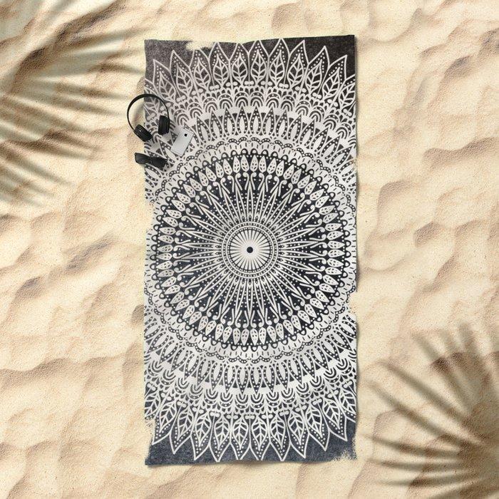 DESERT MOON MANDALA Beach Towel