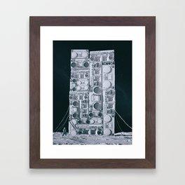 ONE GIANT LEAP (everyday 11.21.17) Framed Art Print