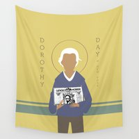 dorothy Wall Tapestries featuring Dorothy Day by Sarah Duet