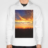 "volleyball Hoodies featuring Hermosa Beach ""Volleyball"" by Arturo Garcia"