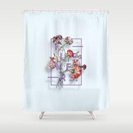 Flowers Bloom Botanicals Vintage Illustration Poster #3 Shower Curtain