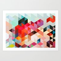 geo Art Prints featuring Heavy words 01. by Three of the Possessed