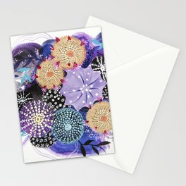 Aerial Cactus In Plumvision Stationery Cards