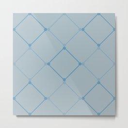 Blue Lattice  Metal Print