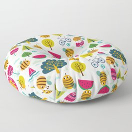 Summer and Bees Floor Pillow