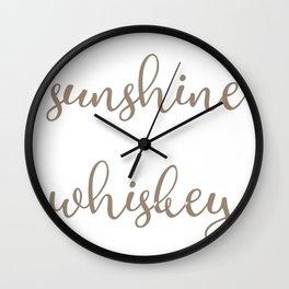 Sunshine and Whiskey Wall Clock