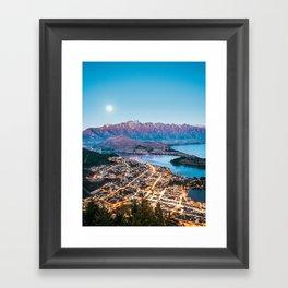 Beautiful Queenstown Evening vertical Framed Art Print