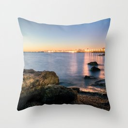 A break from routine. Tranquil spot in 'Montevideo, Uruguay' Throw Pillow