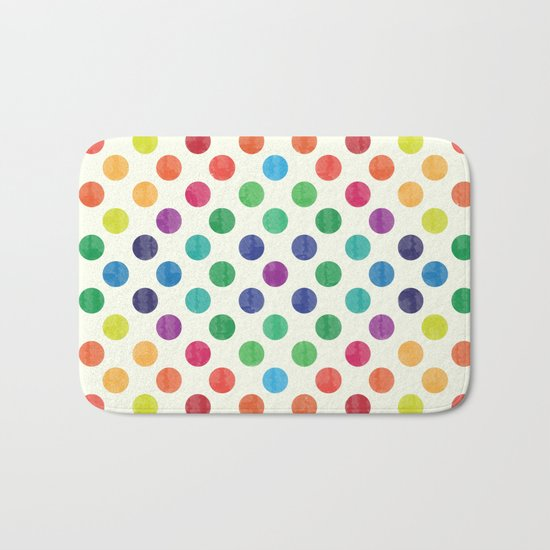 Lovely Dots Pattern III Bath Mat