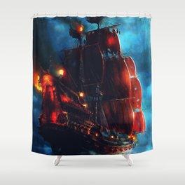 Sailing Through the Night Shower Curtain