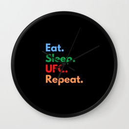 Eat. Sleep. UFC. Repeat. Wall Clock