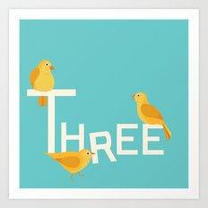 Three Songbirds Art Print