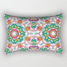 Colorful mandala on white background Rectangular Pillow