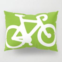 Green Bike Pillow Sham