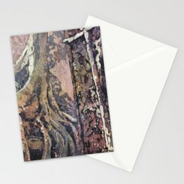 Ruins of Buddhist/Hindu monastic temple of Ta Prohm at Angkor Wat archaeological park- near Siem Rea Stationery Cards