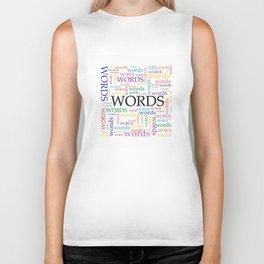 'Words' Word Cloud Biker Tank