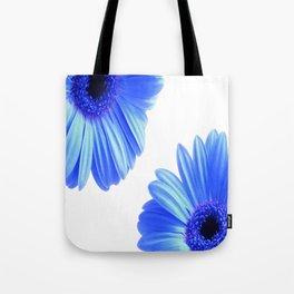 Blue Gerbera Flowers Tote Bag