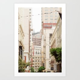 San Francisco Daydreaming in Union Square Art Print
