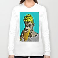 zayn malik Long Sleeve T-shirts featuring Zayn Malik Pop Art by Indigo Blues