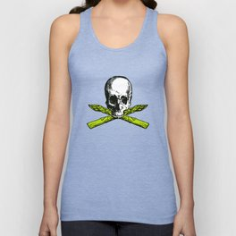 skull asparagus Unisex Tank Top