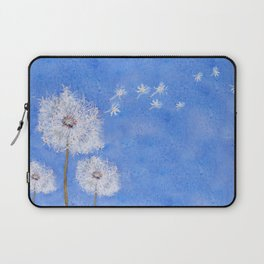 flying dandelion watercolor painting Laptop Sleeve