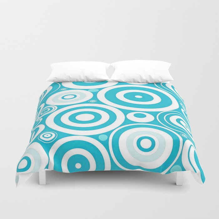 Soft Blue Circles Duvet Cover