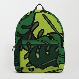 Monstera Leaf Pattern Backpack