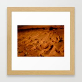Sand Waves color Framed Art Print
