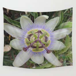 Passion Flower Blossom Wall Tapestry