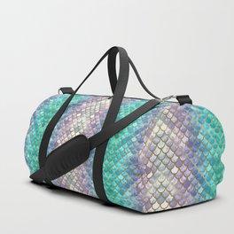 Pretty Mermaid Scales Duffle Bag