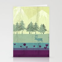 wildlife Stationery Cards featuring Wildlife by Kakel