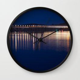The River Tay at night Dundee Wall Clock